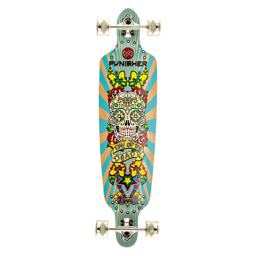 Punisher Skateboards Day Of The Dead 40-in. Complete Longboard