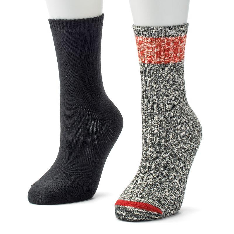 SONOMA life + style® 2-pk. Slubbed Crew Boot Socks - Women