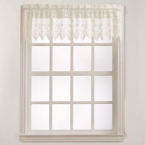 No918 Joy Lace Tier Window Valance - 60'' x 15''