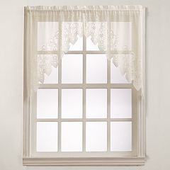 No918 Joy Lace Swag Kitchen Window Curtain - 60'' x 38''