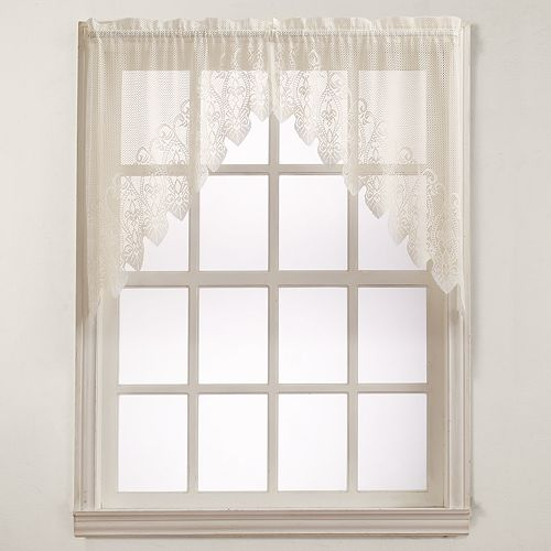 No 918 1-Panel Joy Lace Swag Kitchen Window Curtain - 60'' x 38''
