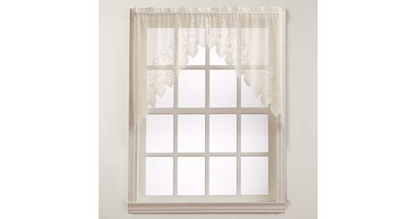 Kohl S Kitchen Curtains: No918 Joy Lace Swag Curtain