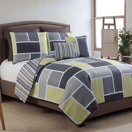 VCNY Home Morgan Reversible Quilt Set