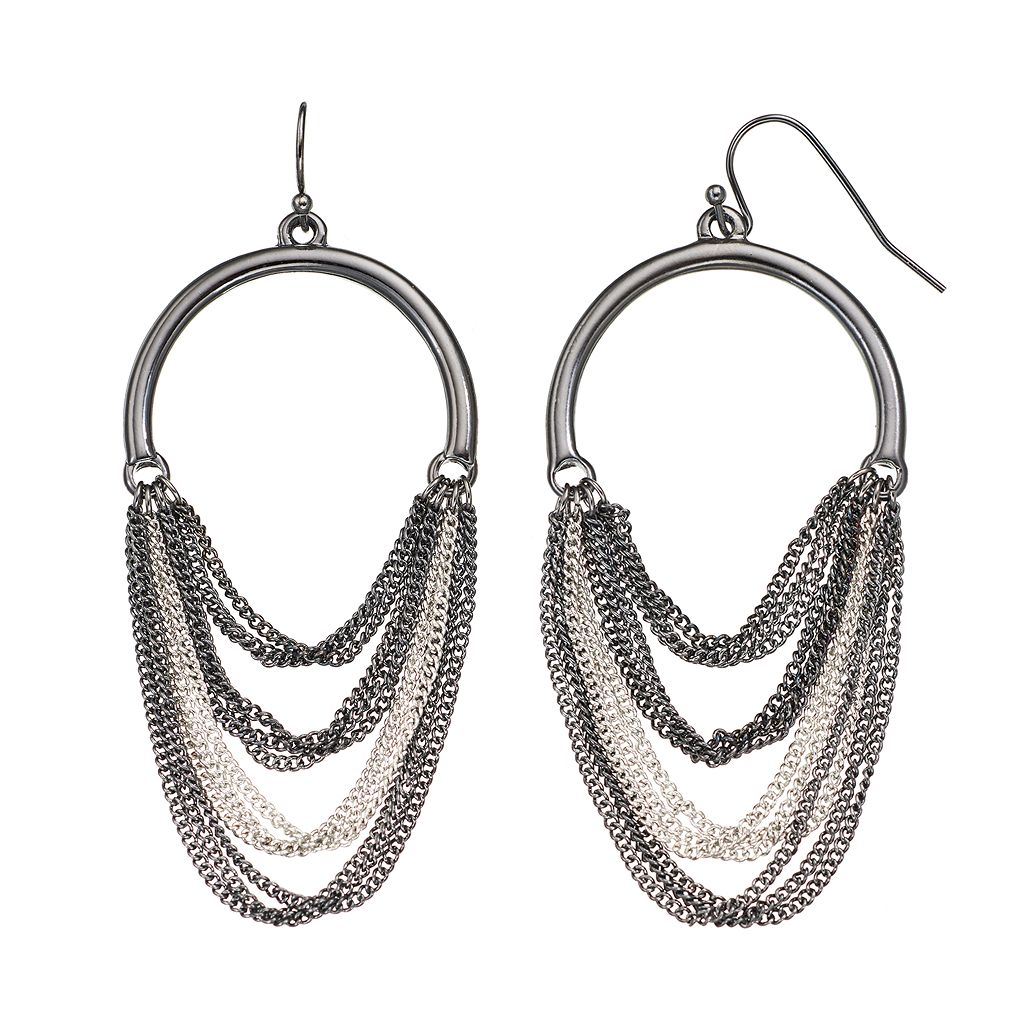 Chain Swag Drop Earrings