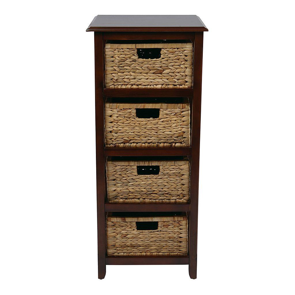 OSP Designs Four-Drawer Storage Cabinet