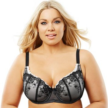 Perfects Australia Bra: Curve It Up Luxe Full-Figure Full-Coverage Balconette Bra 14ULX90 - Women's