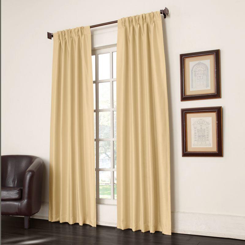 Sun Zero Antique Satin Room Darkening Pinch-Pleat Curtain Pair - 25 ...