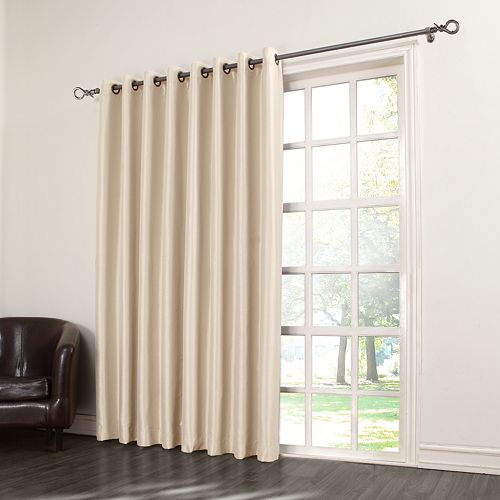 Sun Zero Antique Satin Patio Door Curtain 100 X 84