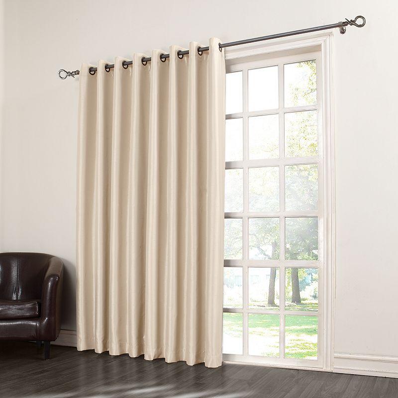 sun zero sun zero antique satin patio door curtain 100 39 39 x 84 39 39 questions answers. Black Bedroom Furniture Sets. Home Design Ideas
