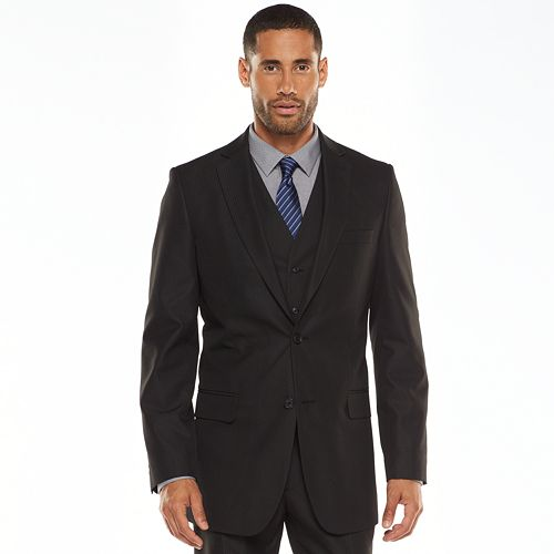 Men's Apt. 9® Modern-Fit Striped Black Suit Jacket and