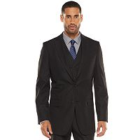 Men's Apt. 9® Modern-Fit Striped Dark Gray Suit Jacket & Vest