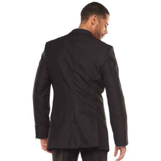 Men's Apt. 9® Modern-Fit Striped Dark Gray Suit Jacket & Vest