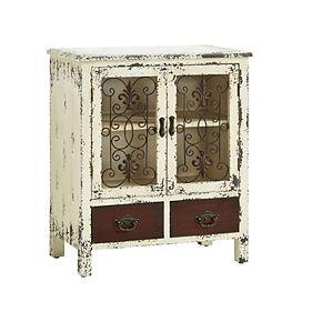 Parcel 2 Drawer Distressed Floor Cabinet