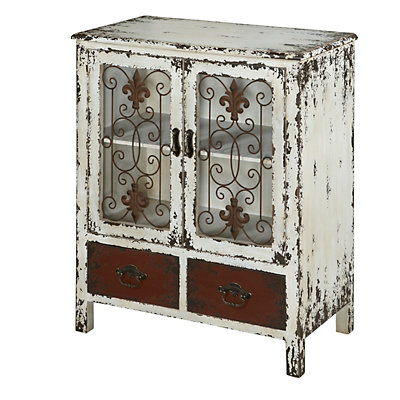 Parcel 2-Drawer Distressed Floor Cabinet