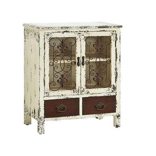 Parcel 2-Drawer Distressed Floor Cabinet