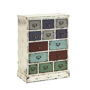 Parcel 13 Drawer Distressed Floor Cabinet