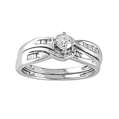 Stella Grace Diamond Engagement Ring Set in 10k White Gold (1/3 Carat T.W.)
