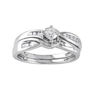 Stella Grace Diamond Engagement Ring Set in 10k White Gold (1/3 Carat T.W.)