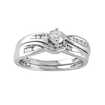 Diamond Engagement Ring Set in 10k White Gold (1/3 Carat T.W.)
