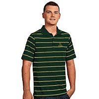 Men's Antigua Baylor Bears Deluxe Striped Desert Dry Xtra-Lite Performance Polo