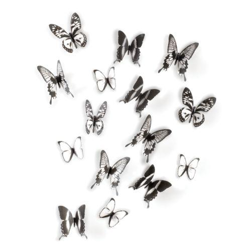 Umbra Chrysalis Black & White Butterfly Wall Decor
