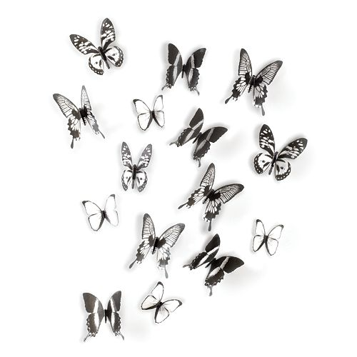 Umbra Chrysalis Black & White Butterfly Wall Decor