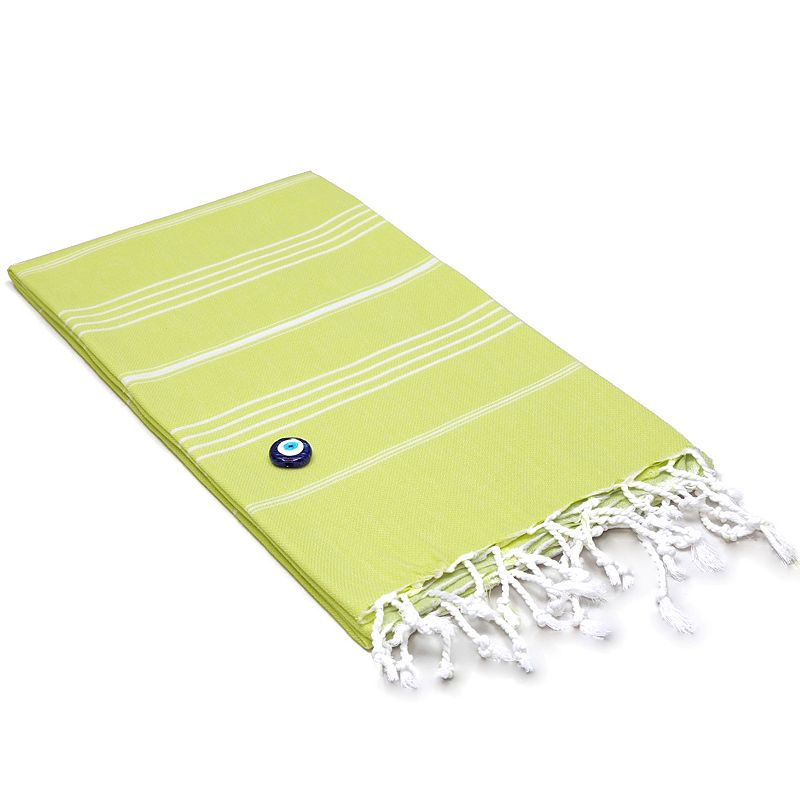 Linum Home Textiles Lucky Beach Towel, Green