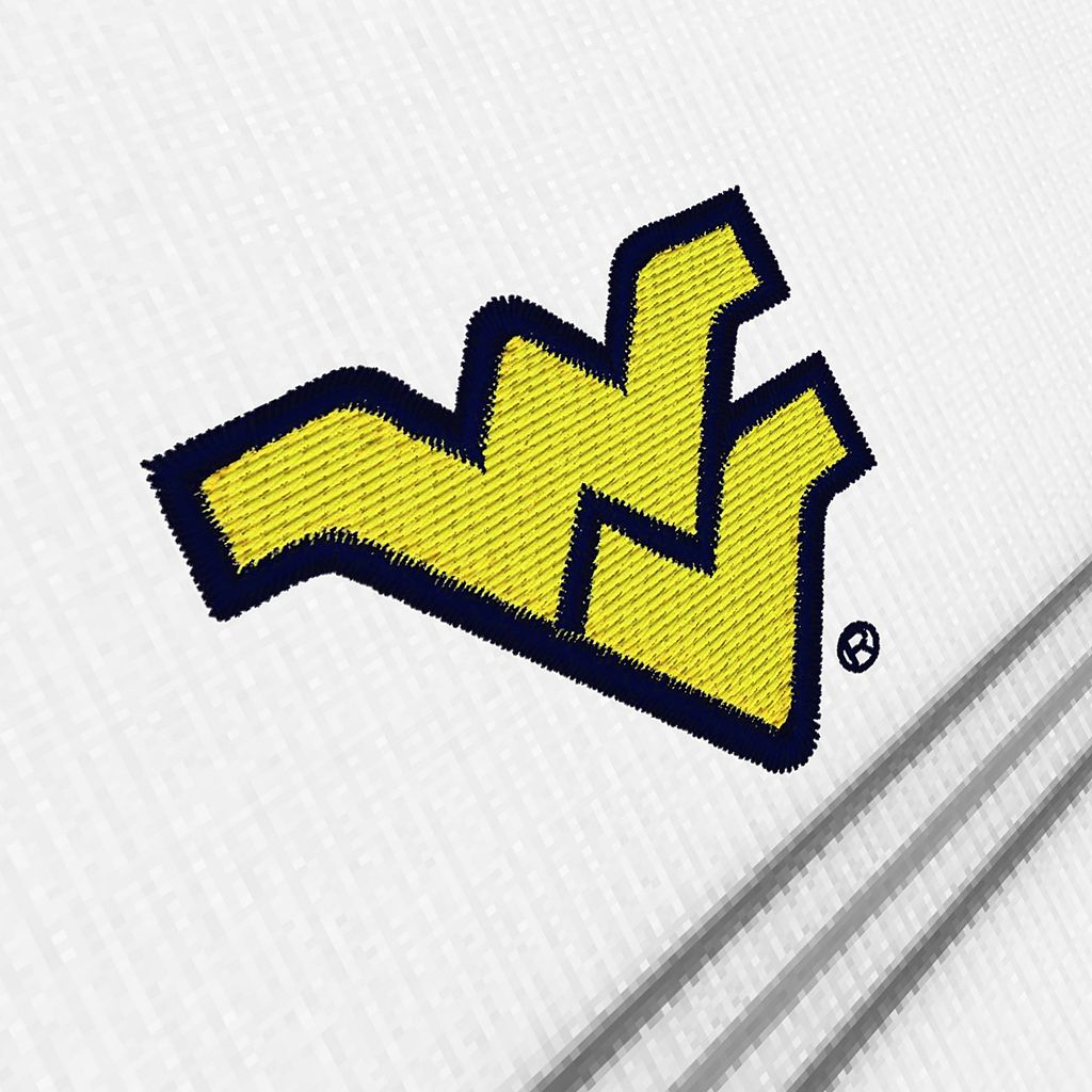 Men's Antigua West Virginia Mountaineers Deluxe Striped Desert Dry Xtra-Lite Performance Polo