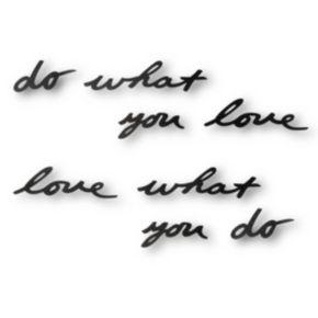 Umbra ''Do What You Love'' Metal Wall Decor