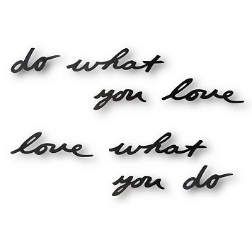 Umbra ''Do What You Love'' Metal Wall Decor