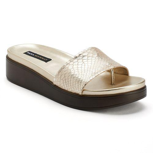 41f0c60a7 Dana Buchman Women s Platform Thong Sandals
