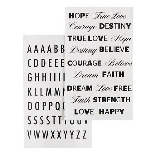 SO® Inspirational & Alphabet Temporary Tattoo Set