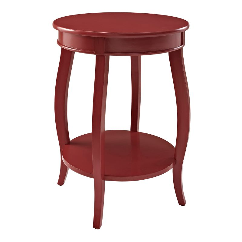 Round End Table, Red