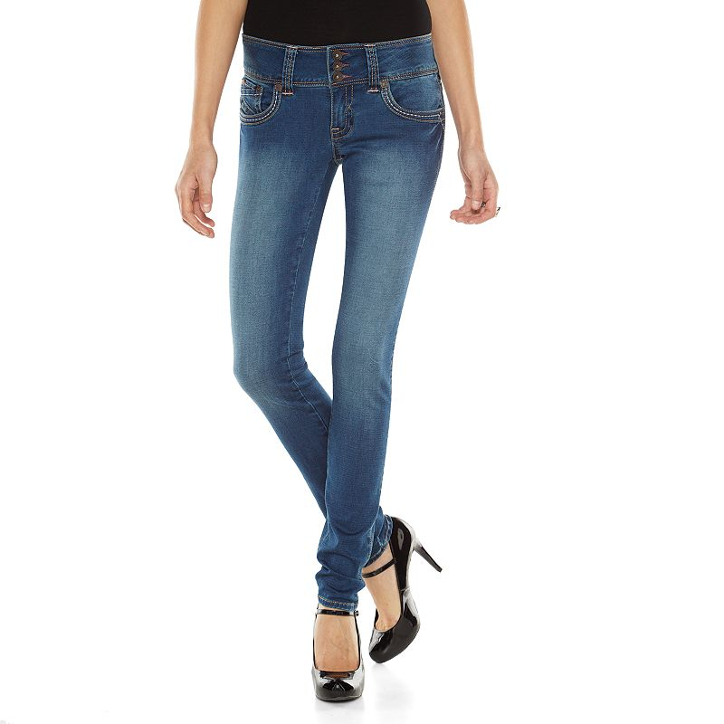 Hydraulic Bailey Super Skinny Midrise Jeans - Juniors (Blue)