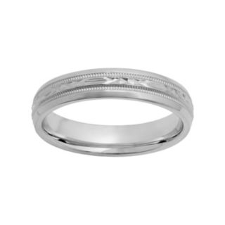 Sterling Silver Crisscross Wedding Ring