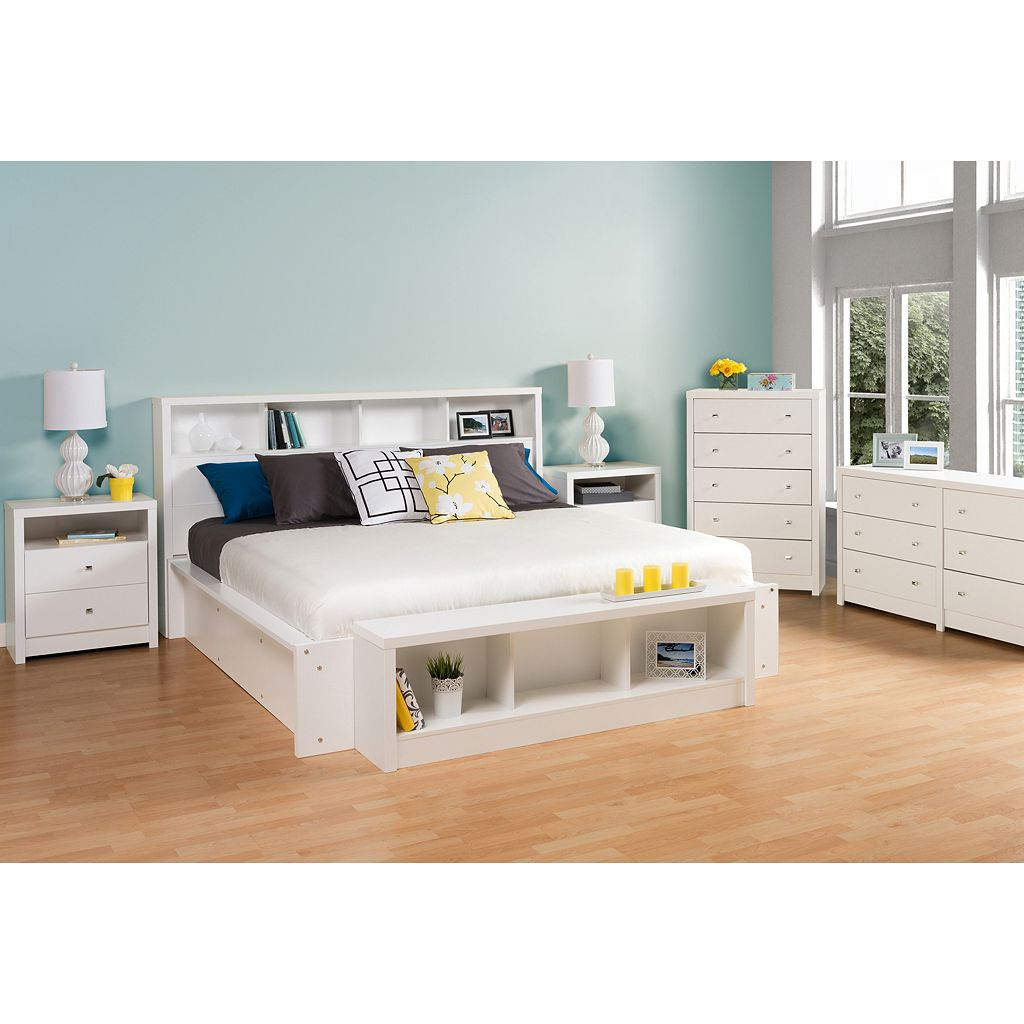 Prepac Calla King Storage Headboard