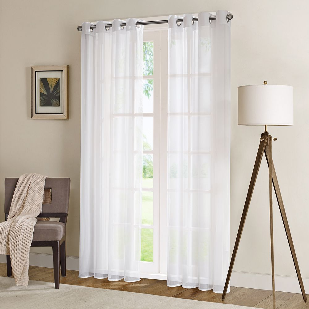 "Madison Park 1-Panel Clarion Sheer Window Curtain - 50"" x 84"""