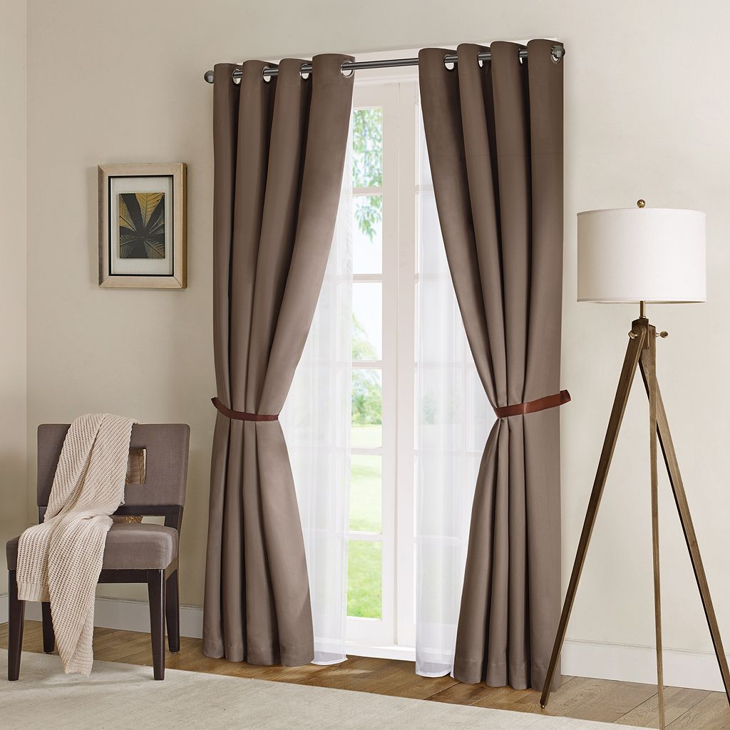 Madison Park Wingate Herringbone Blackout Window Curtain - 50'' x 84''