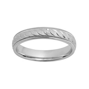 Sterling Silver Textured Wedding Ring
