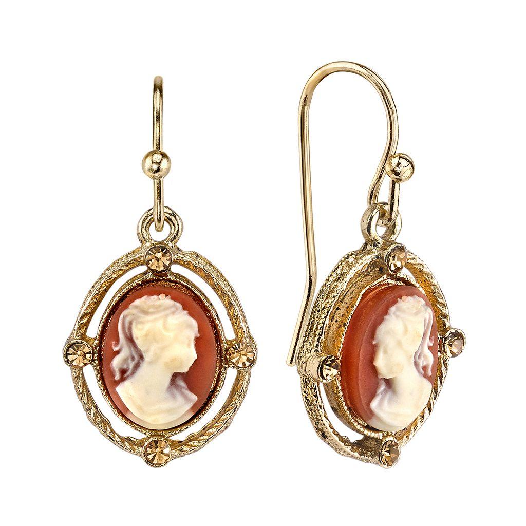 1928 Cameo Drop Earrings