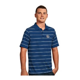 Men's Antigua Gonzaga Bulldogs Deluxe Striped Desert Dry Xtra-Lite Performance Polo