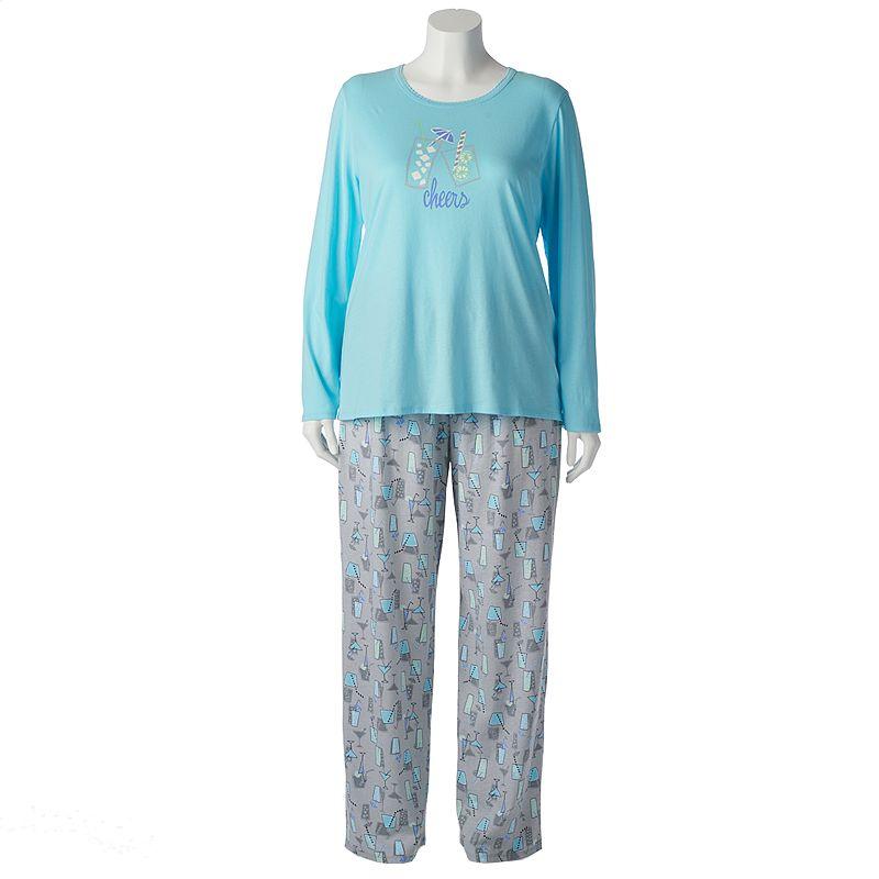 Croft & Barrow Pajamas: Printed Knit Pajama Set - Women's Plus Size