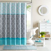 Intelligent Design Zara Fabric Shower Curtain