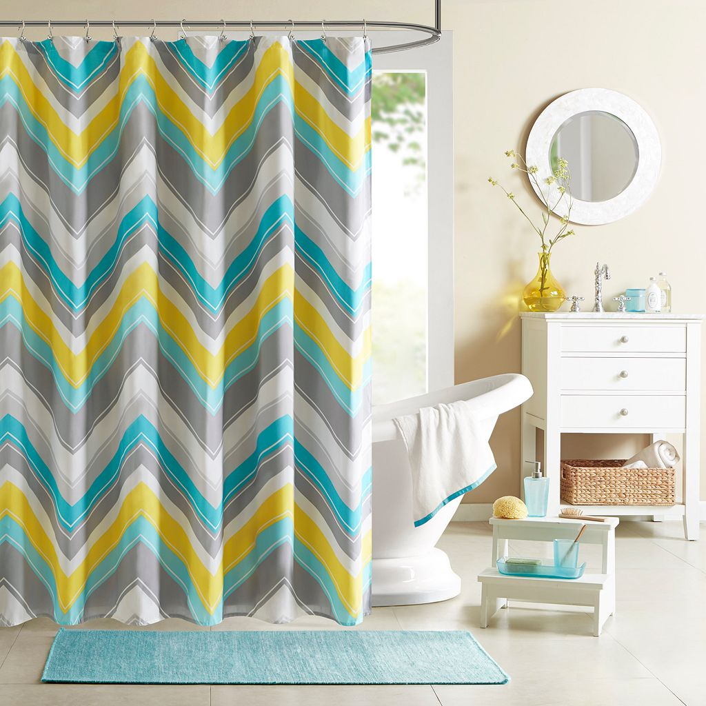 Intelligent Design Ariel Fabric Shower Curtain