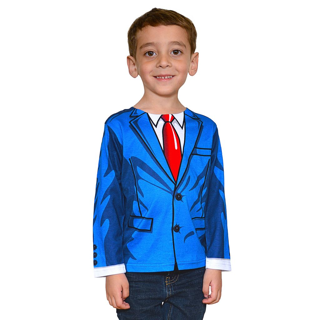 Faux Real Cartoon Suit Tee - Toddler