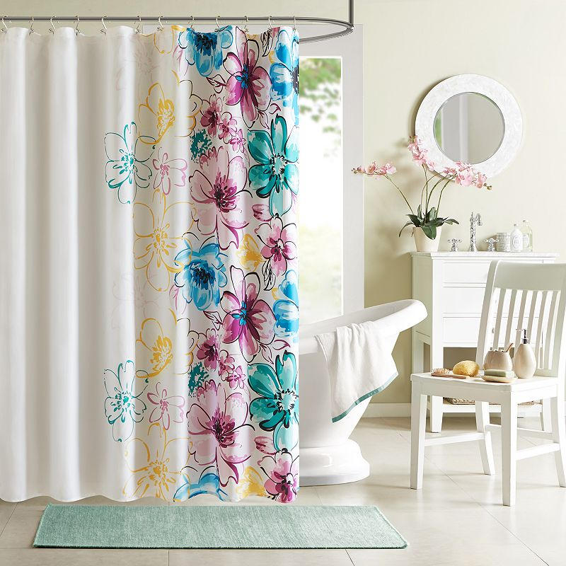 Intelligent Design Ashley Fabric Shower Curtain
