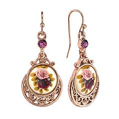 1928 Flower Drop Earrings