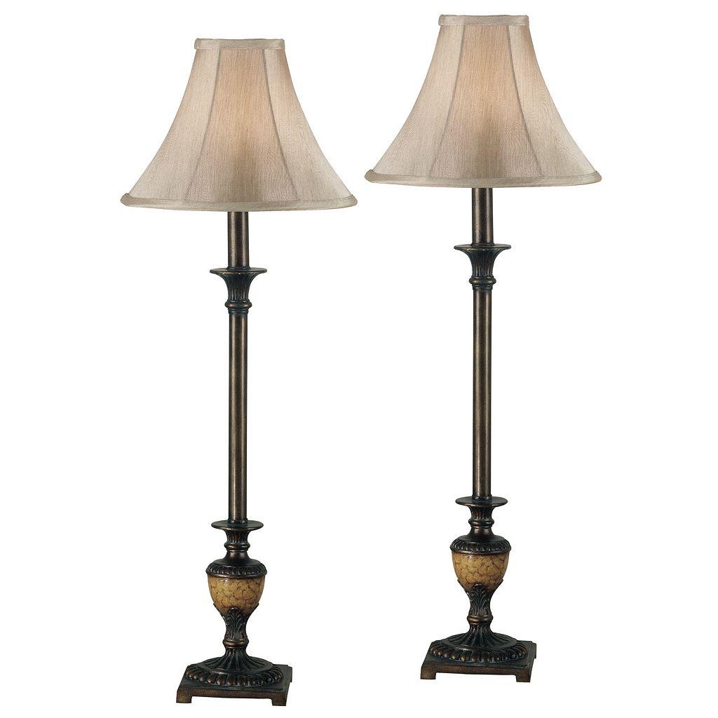 Emily 2-piece Buffet Table Lamp Set