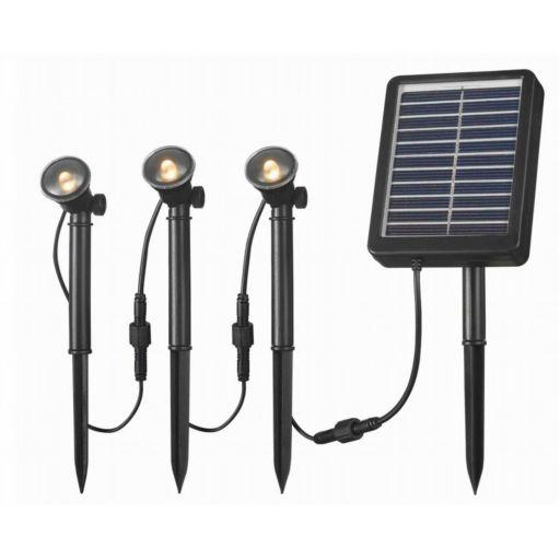 Outdoor 3-Light LED Solar Spotlight Set