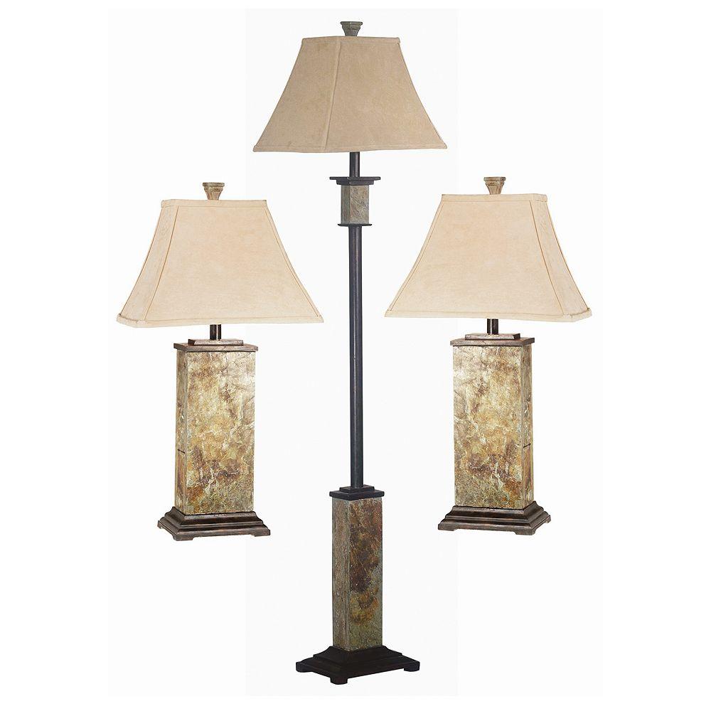 Bennington 3-piece Table & Floor Lamp Set